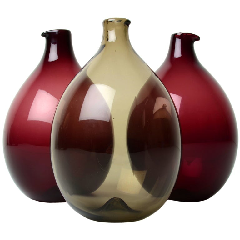 Timo Sarpaneva I-Glass Bird Decanters For Sale