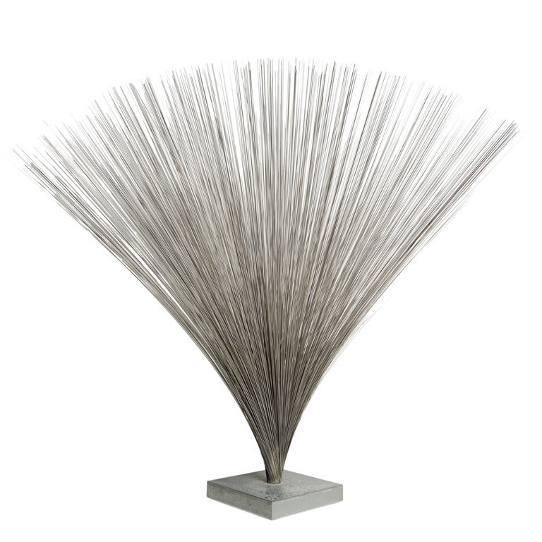 Large Harry Bertoia Spray Sculpture For Sale