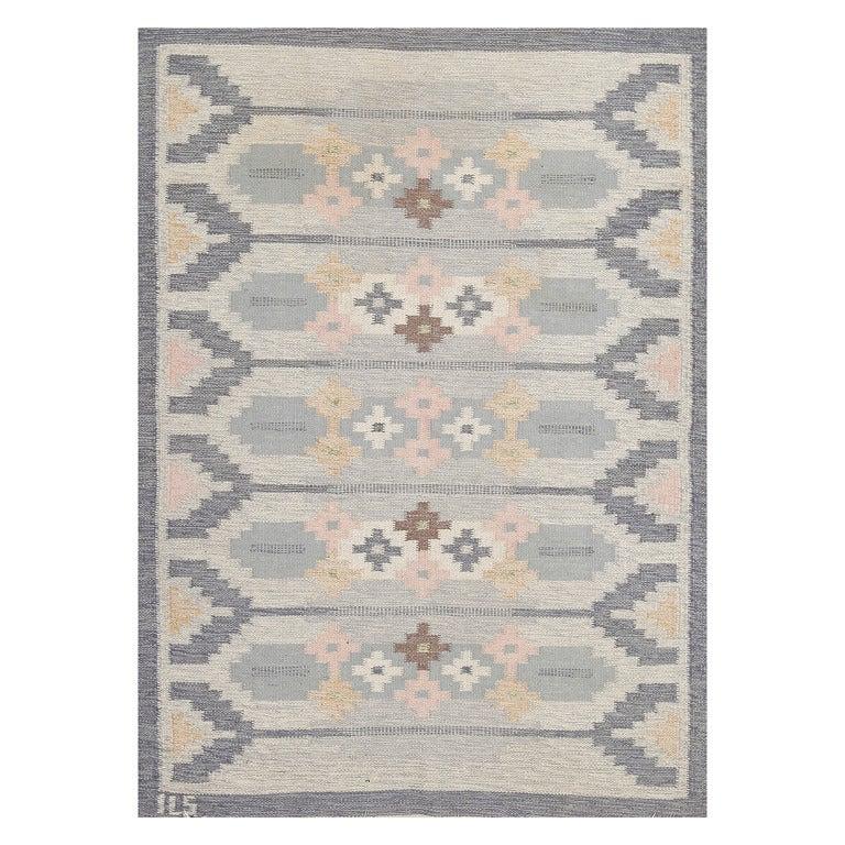 Swedish Flat Weave Wool Carpet At 1stdibs