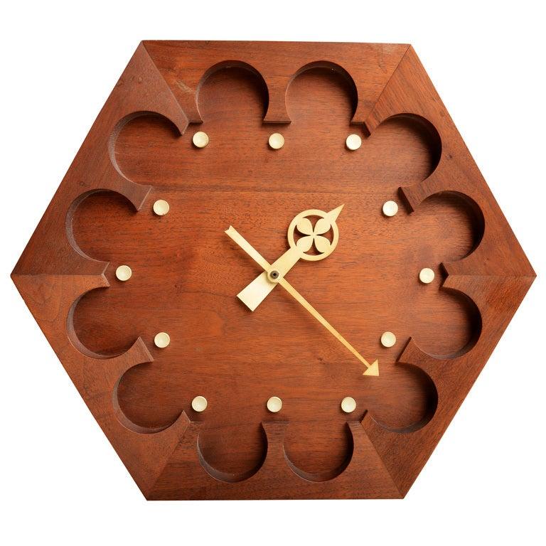 rare arthur umanoff for howard miller wall clock 1