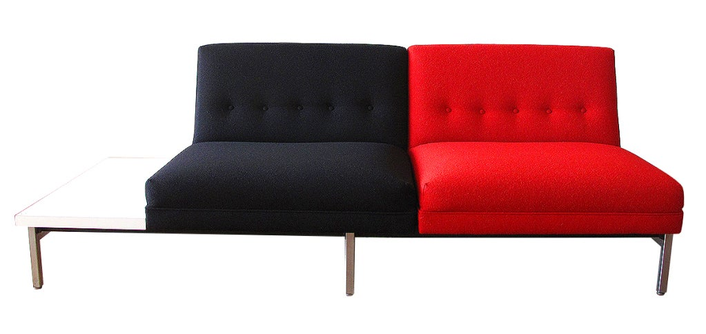Mid-20th Century Unique George Nelson settee for Herman Miller