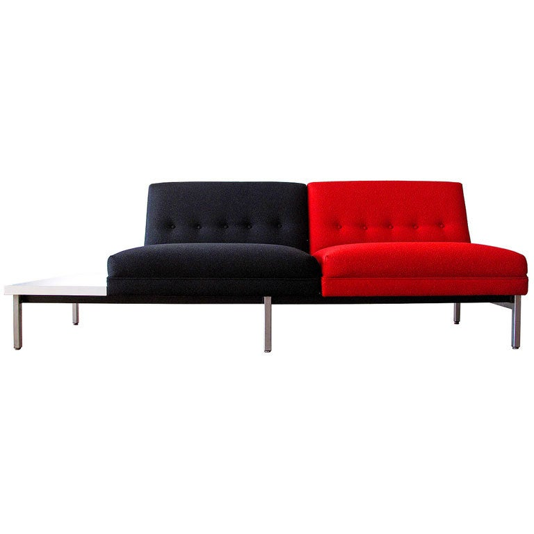 Unique George Nelson settee for Herman Miller