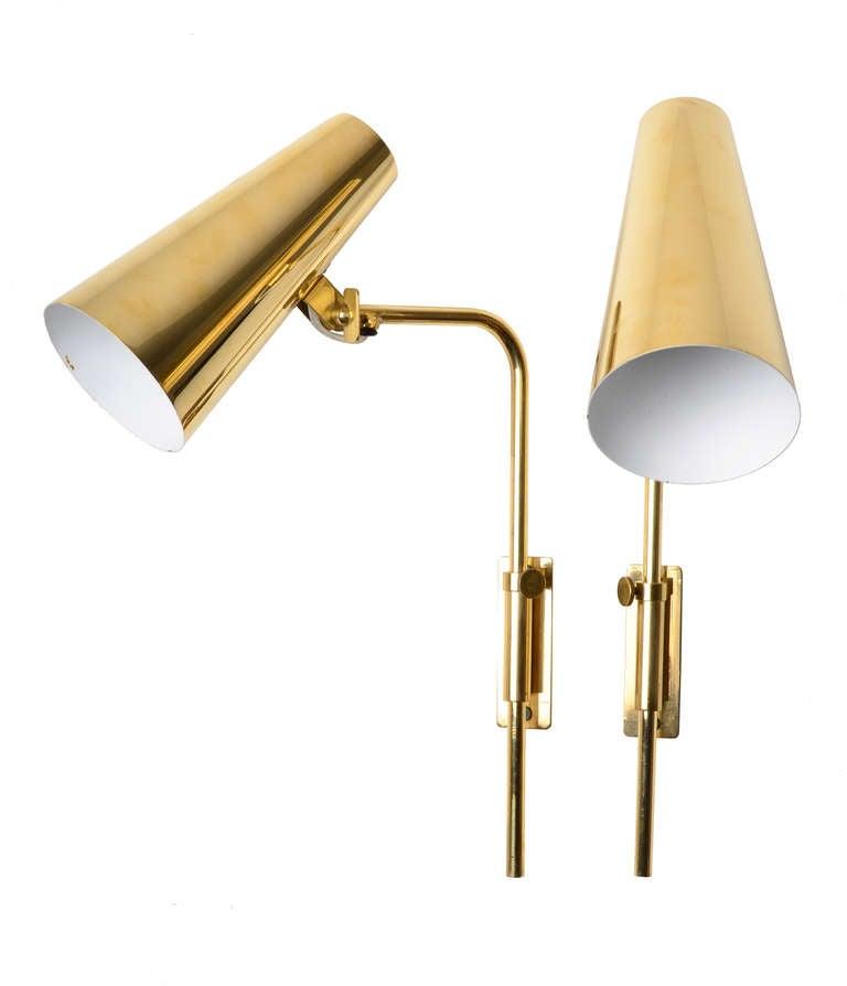 Wall Lamps Adjustable : Elegant Paavo Tynell Adjustable Wall Lamps at 1stdibs