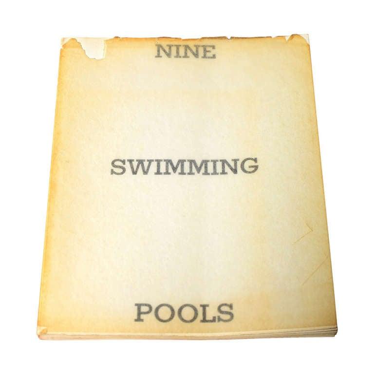 Ed Ruscha Nine Swimming Pools And A Broken Glass 1968 At 1stdibs
