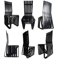 "Set of 6 Frank Gehry ""High Sticking"" Tall Chairs"