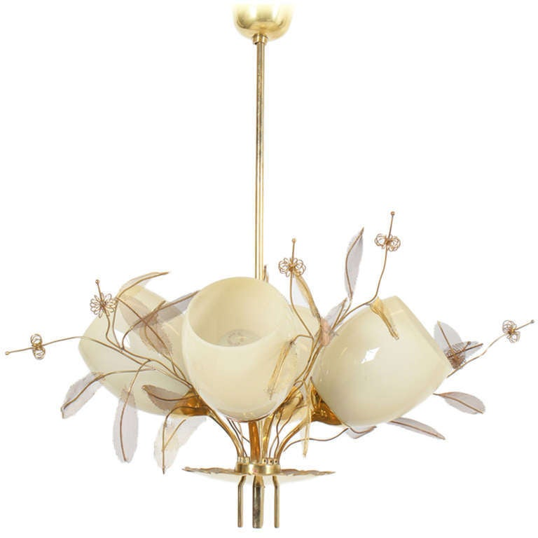 Paavo Tynell 4 Shade Chandelier At 1stdibs