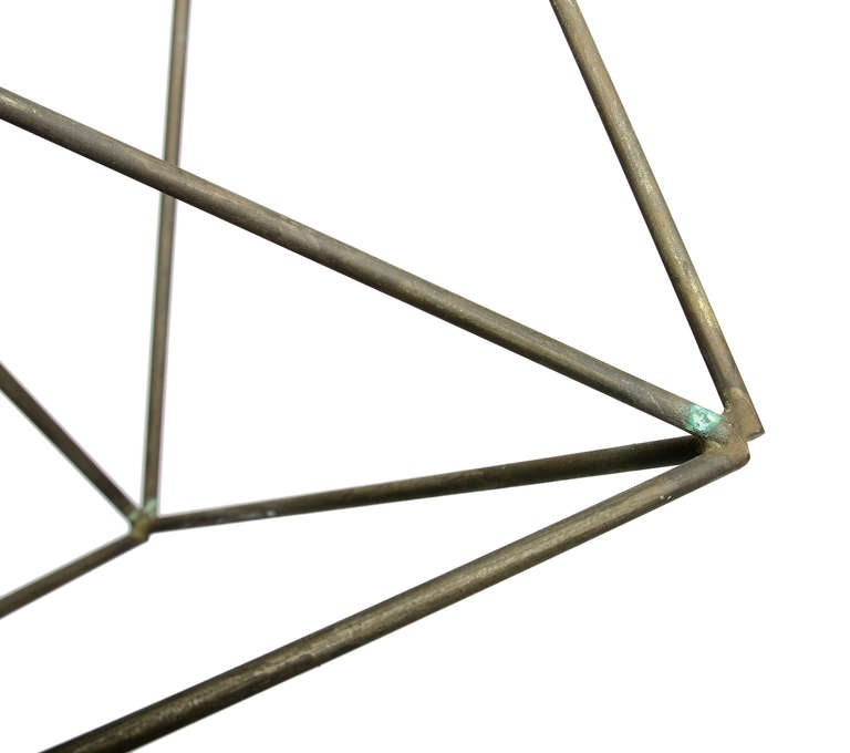 Architectural Harry Bertoia Sculpture in Nickel In Good Condition For Sale In Brooklyn/Toronto, Ontario