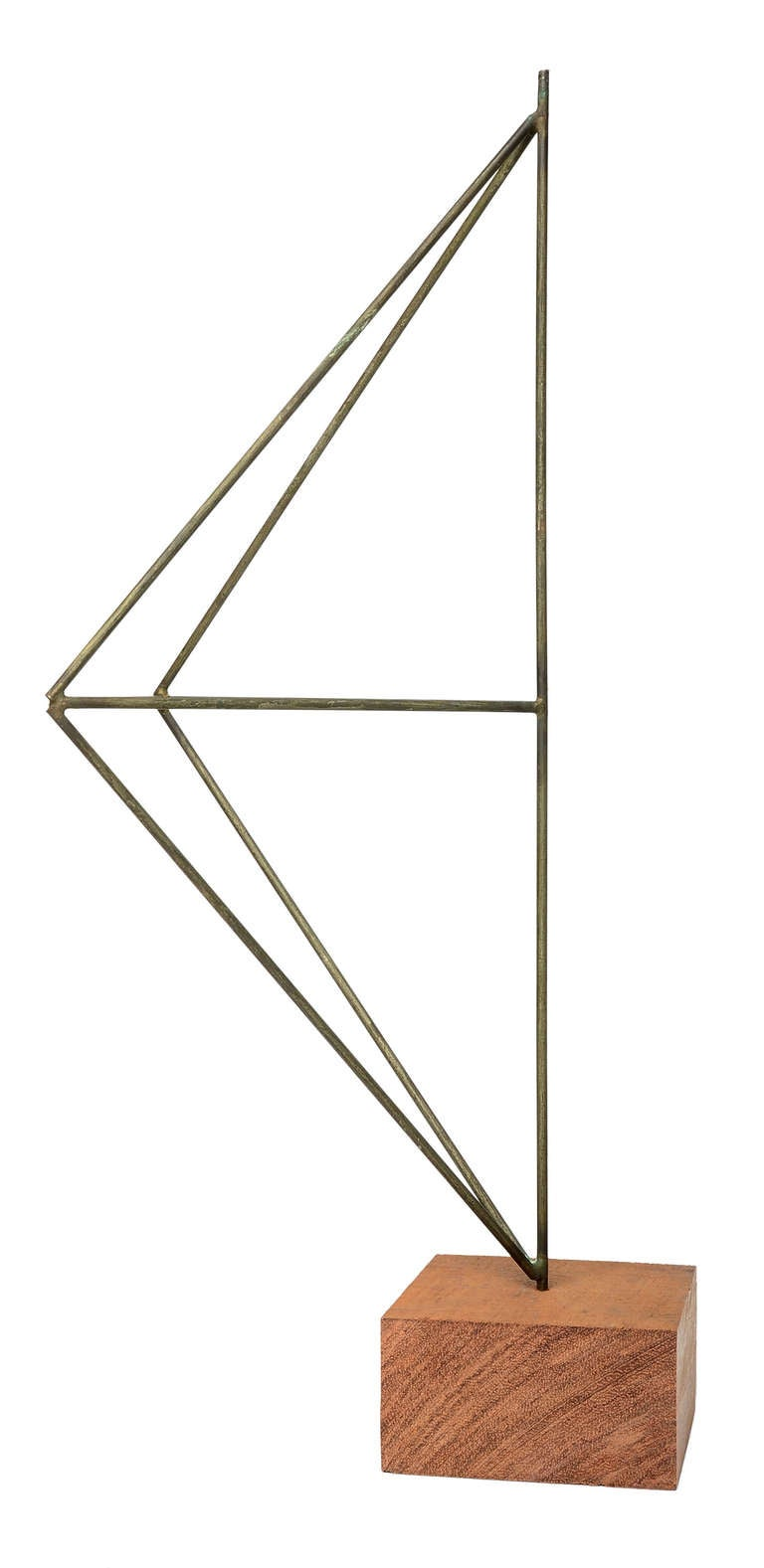 Mid-Century Modern Architectural Harry Bertoia Sculpture in Nickel For Sale