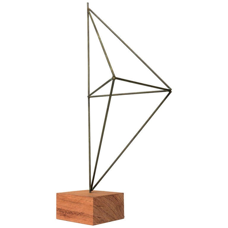Architectural Harry Bertoia Sculpture in Nickel