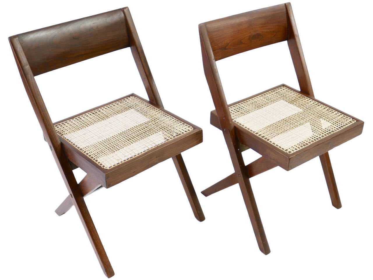 Set of ten library chairs from chandigarh by jeanneret