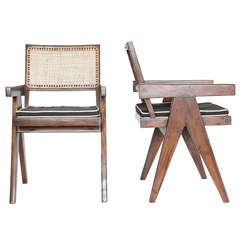 Pair of Pierre Jeanneret V-Leg Chairs