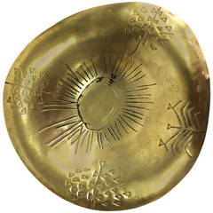 Rare Tapio Wirkkala Brass Bowl