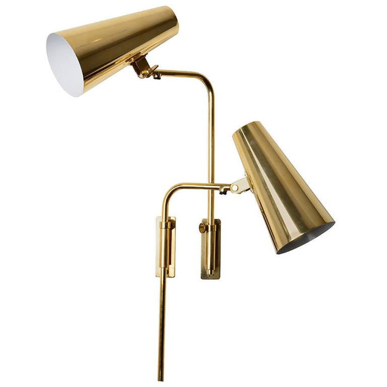 Adjustable Wall Lights Contemporary : Paavo Tynell Adjustable Wall Lamps or Sconces at 1stdibs
