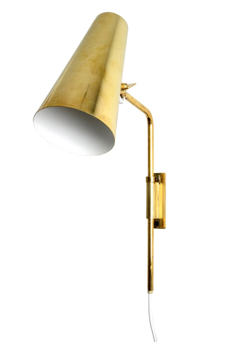 Wall Mounted Adjustable Lamps : Paavo Tynell Adjustable Wall Lamps or Sconces at 1stdibs