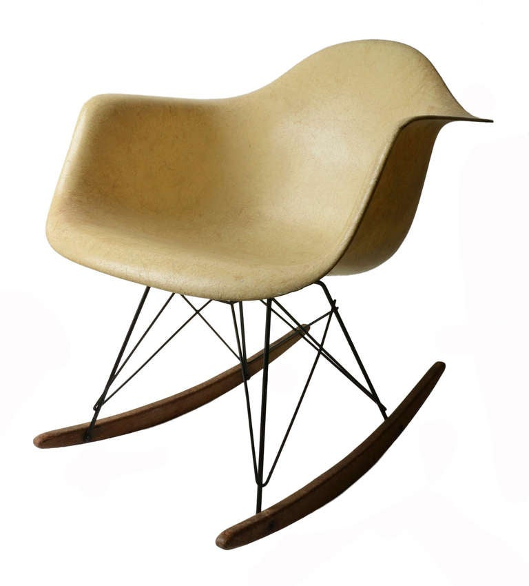 early eames rocking chair for herman miller at 1stdibs