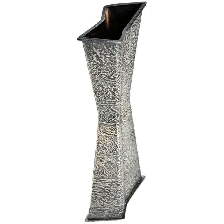 Tapio Wirkkala Geometric Silver Vase