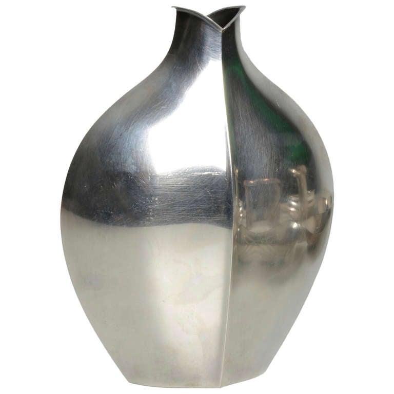 tapio wirkkala tw 42 silver vase for sale at 1stdibs