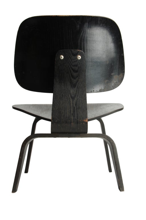 Charles Eames black aniline LCW For Sale at 1stdibs