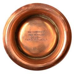 Selection of Tapio Wirkkala metal works in Brass, Copper, Silver