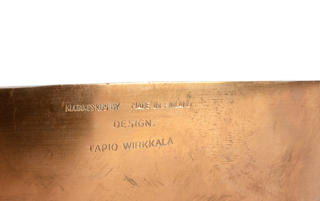 Tapio Wirkkala's TW 476 Bowl in Bronze In Good Condition For Sale In Brooklyn/Toronto, Ontario