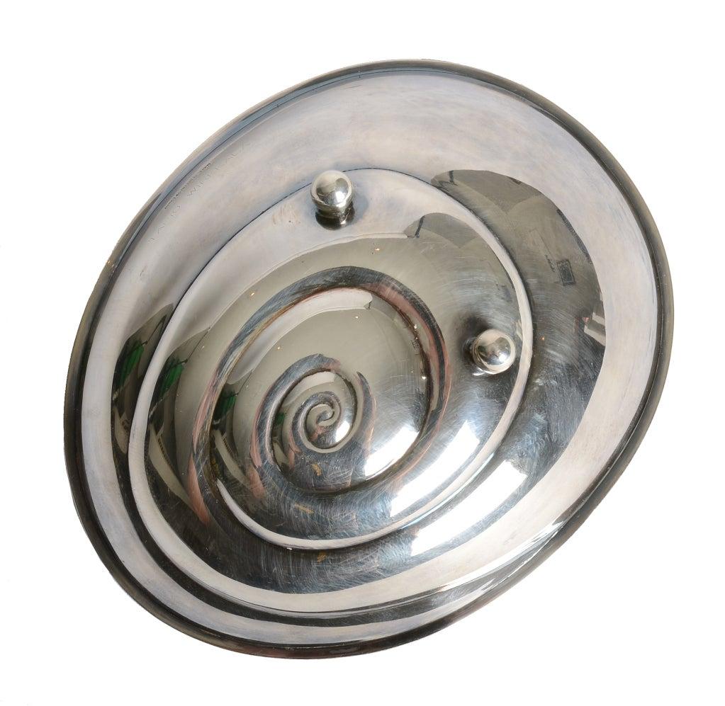 Finnish Tapio Wirkkala's Snail bowl in silver For Sale