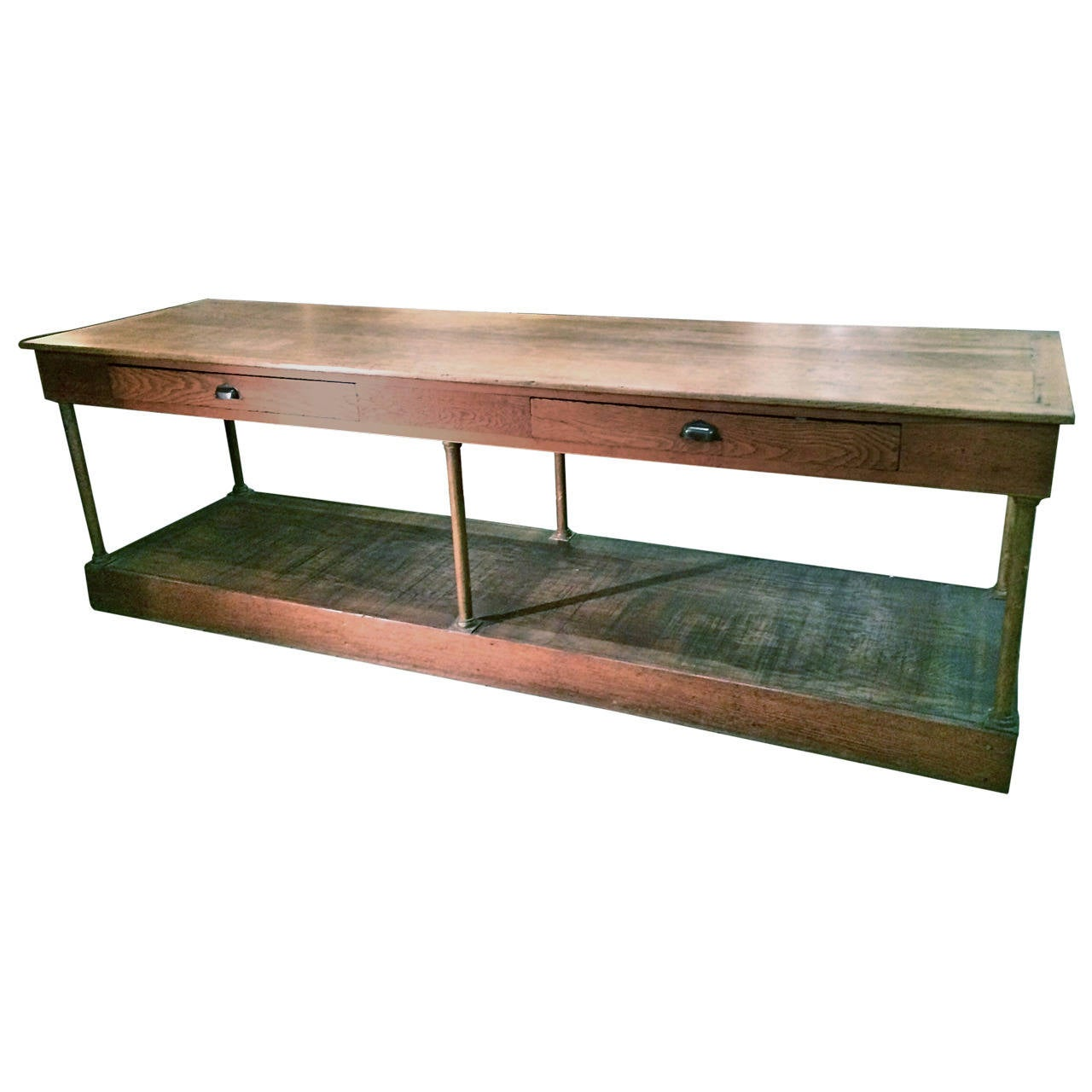 19th C FrenchWalnut Shop Counter 1