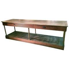 19th C FrenchWalnut Shop Counter
