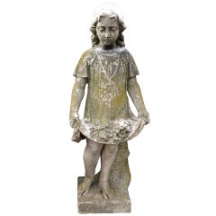 19th C. French Marble Garden Statue