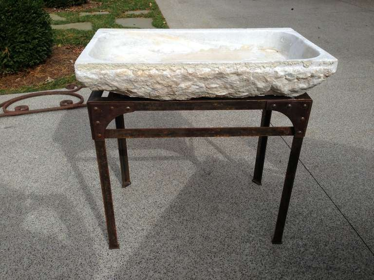 French Stone Sink : 19th C French Carved Marble sink at 1stdibs