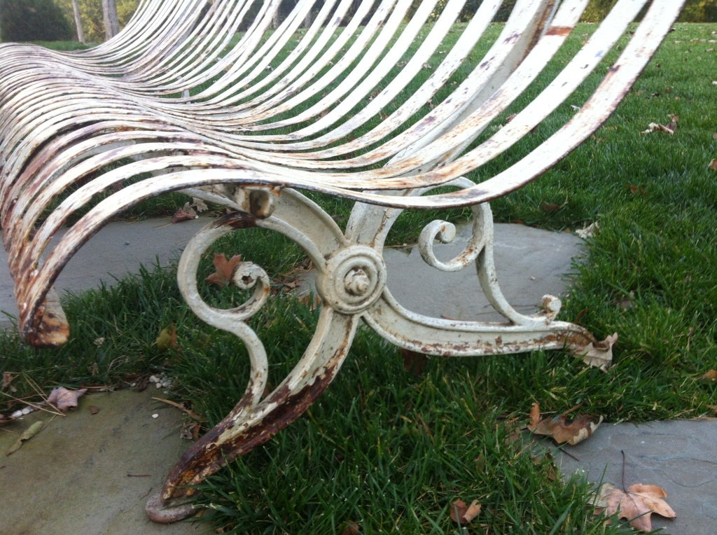 19th Century 19thc French Iron Garden Bench For Sale