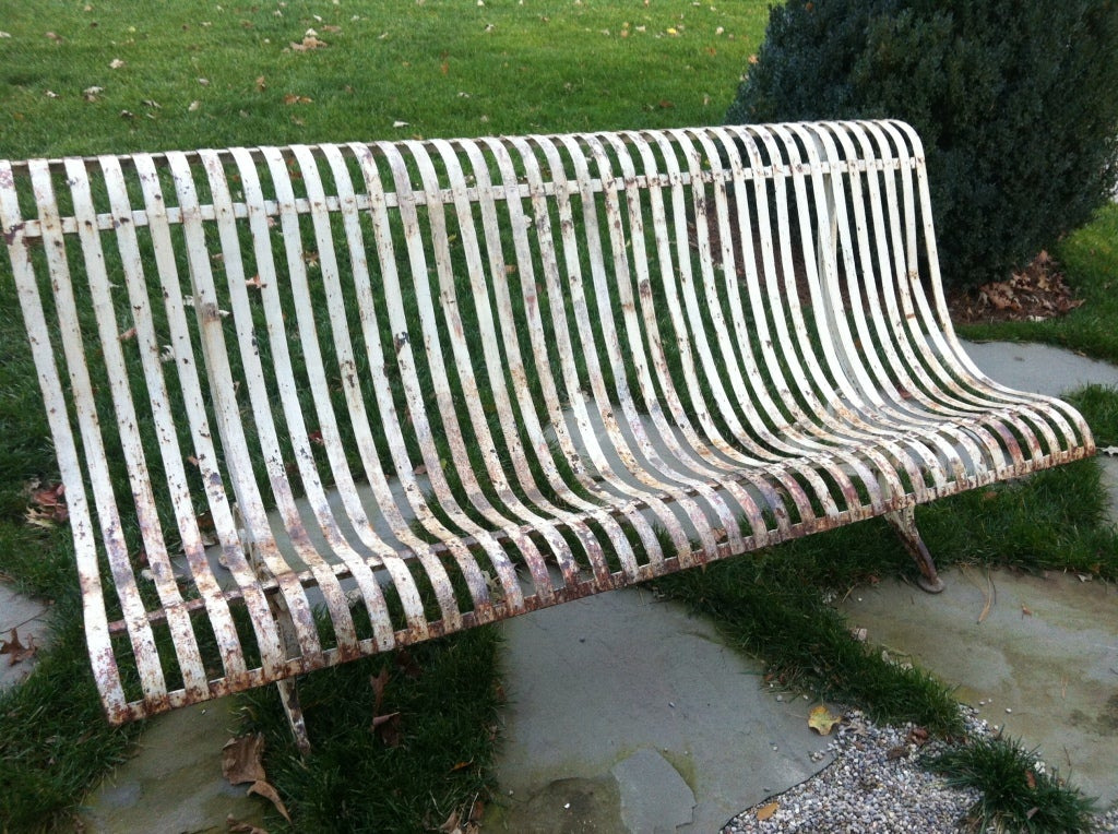 19thc French Iron Garden Bench For Sale 1