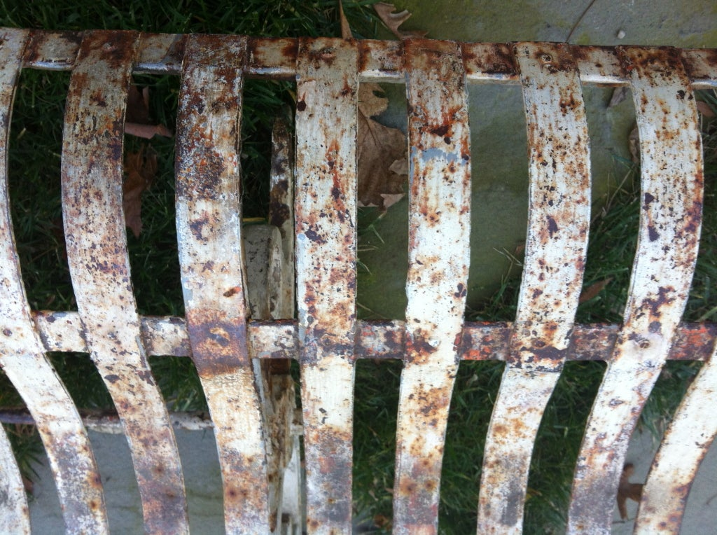19thc French Iron Garden Bench For Sale 2