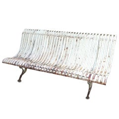 19thc French Iron Garden Bench