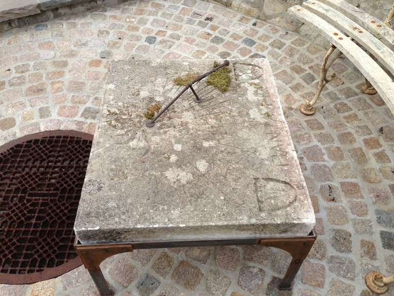 19th C. French Stone Sundial For Sale 3