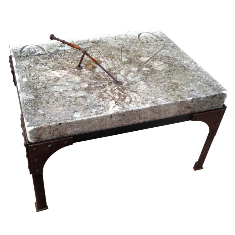 19th C. French Stone Sundial For Sale