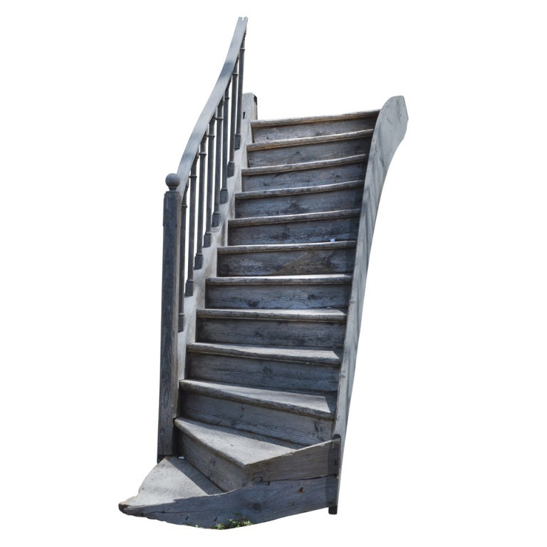 19th Century Chestnut French  Staircase For Sale