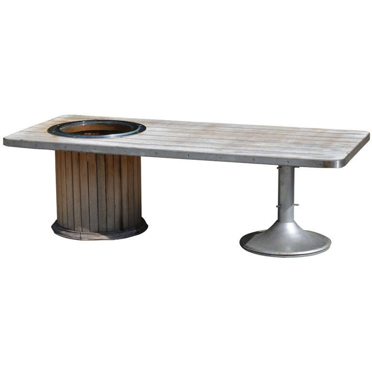 Mid Century Yacht Club Coffee Table For Sale