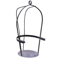 Vintage Iron Jockey Scale Chair