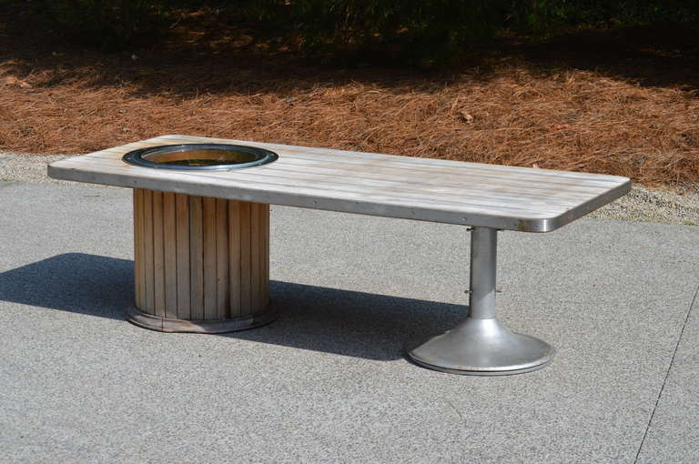 American Mid Century Yacht Club Coffee Table For Sale