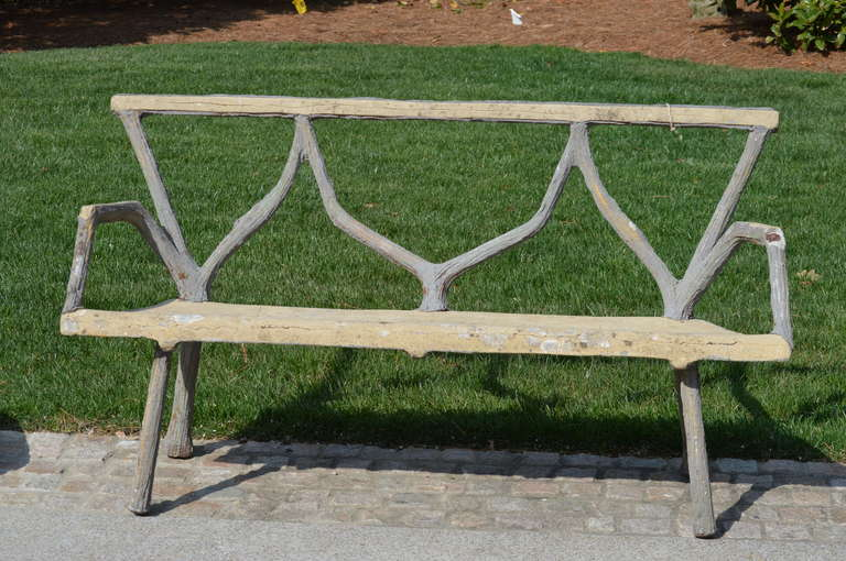 French Faux Bois Bench from Lille.