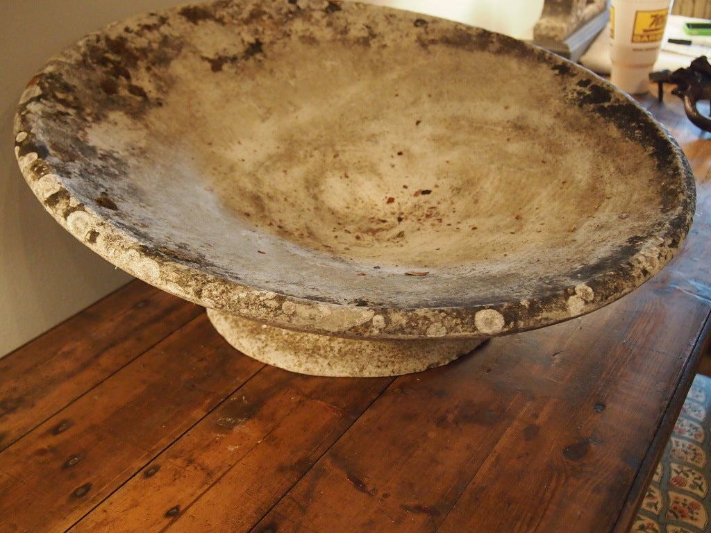 Cast french concrete planter with beautiful patina at 1stdibs - Casting concrete planters ...
