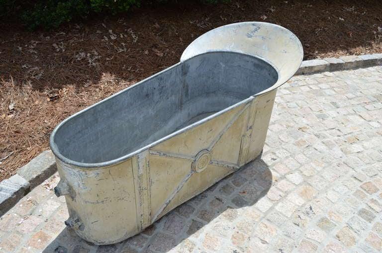 19th Century French Zinc Bathtub 5