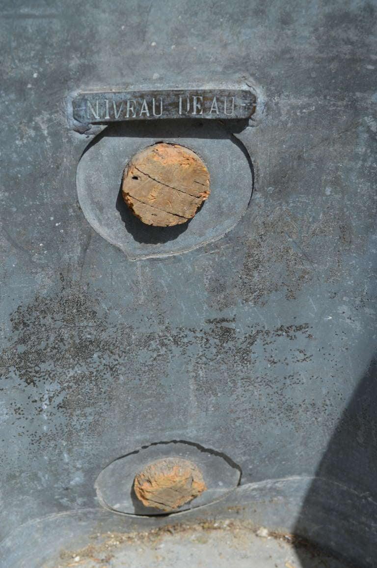 19th Century French Zinc Bathtub 7