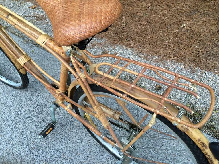 Vintage Rattan Bicycle For Sale 5