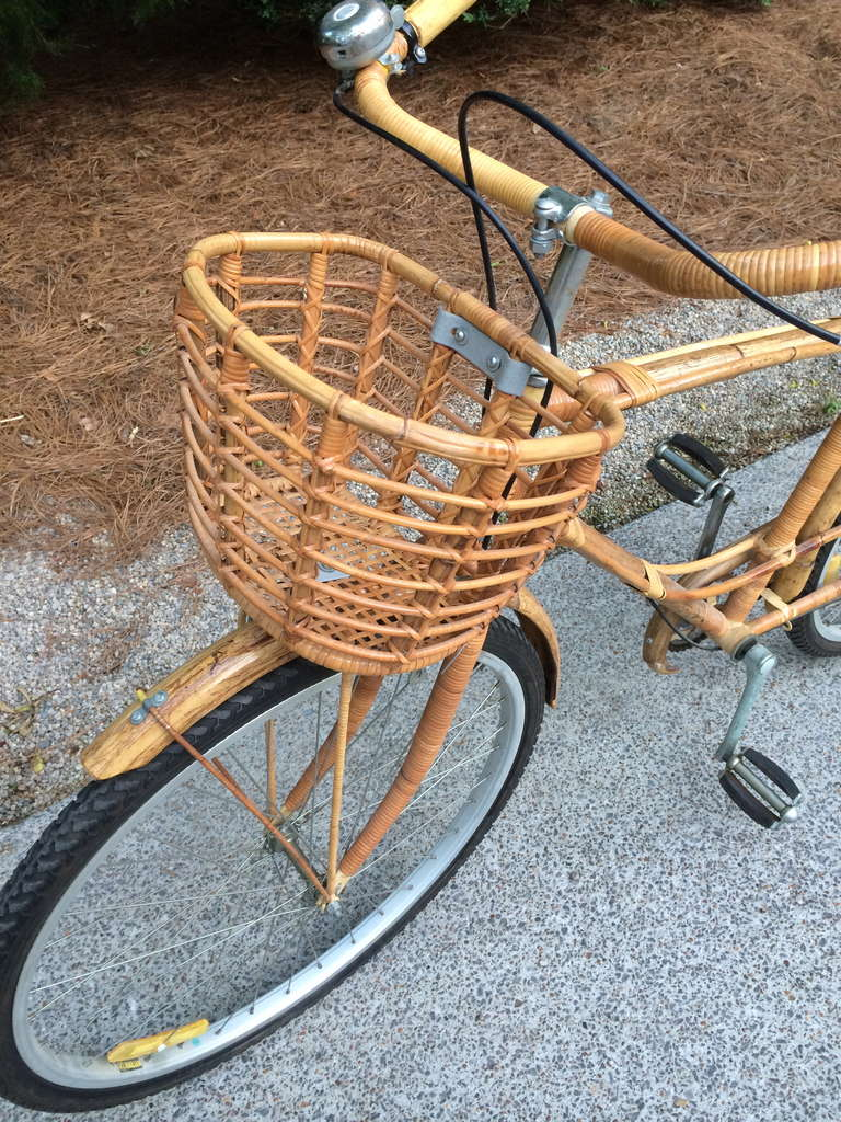 Vintage Rattan Bicycle For Sale 3