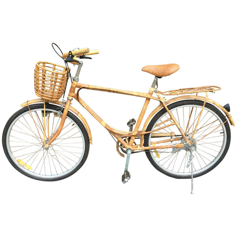 Vintage Rattan Bicycle For Sale