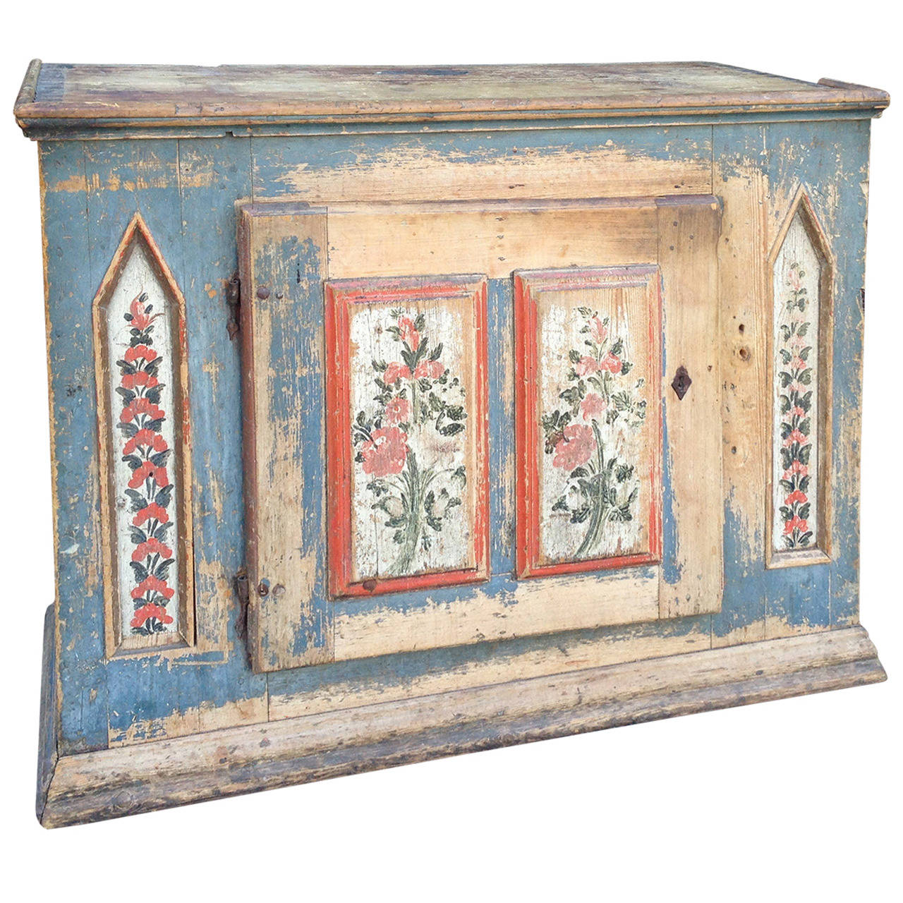 1850 Swedish Painted Cupboard For Sale