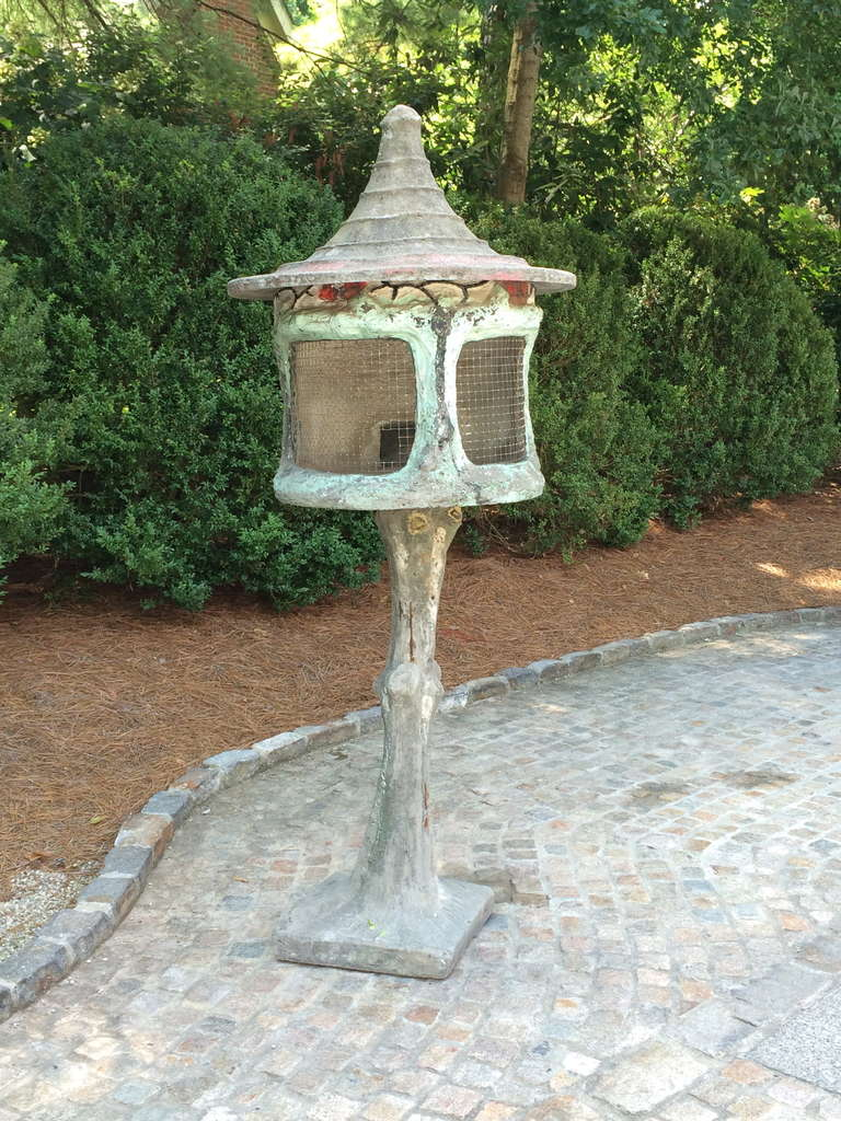 Fabulous French Composition Stone Aviary 3