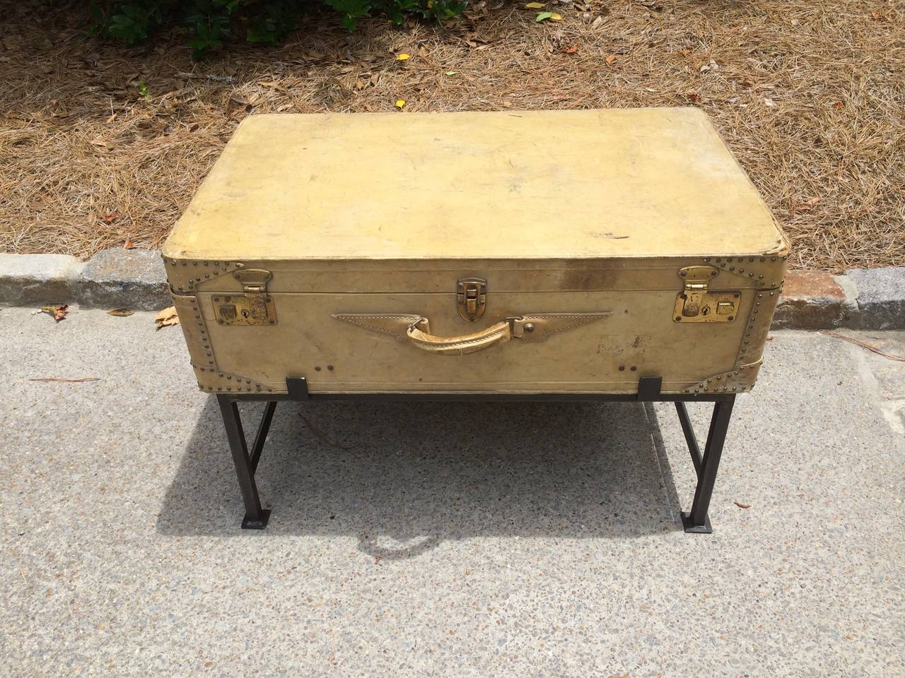 Vintage Vellum Suitcase Coffee Table