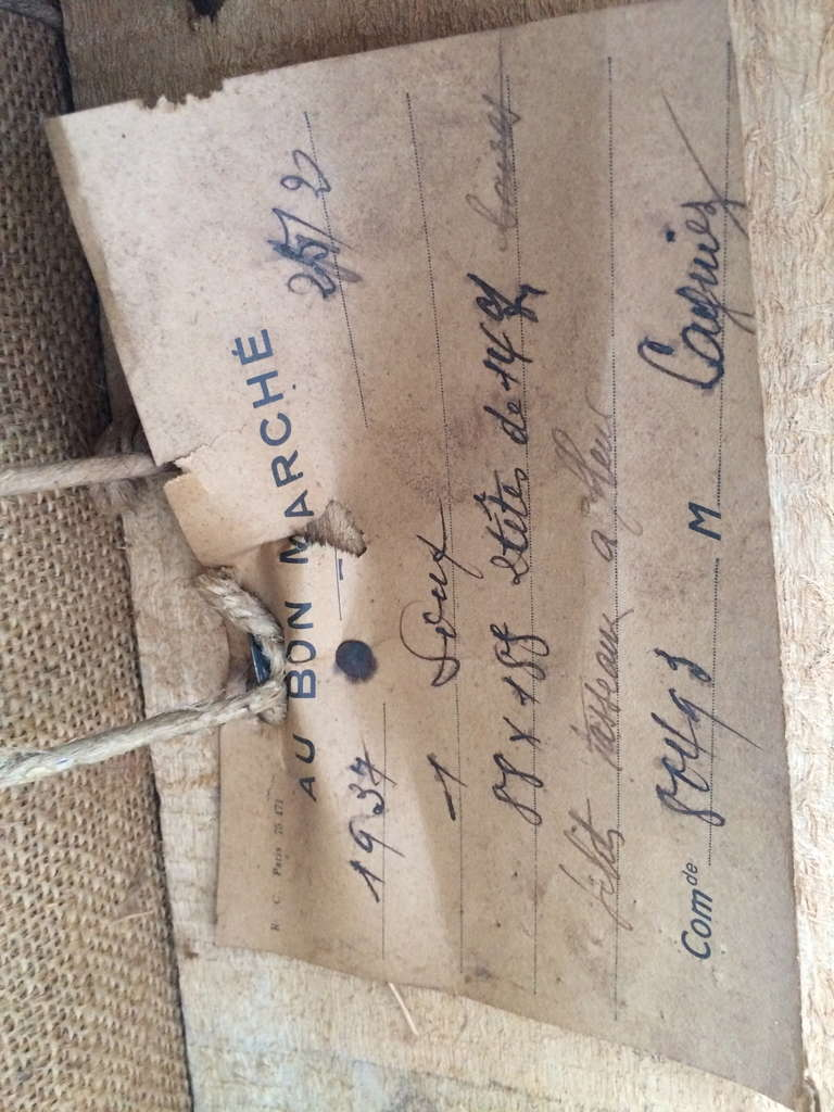 1939 Bon Marche Mohair Vevet Daybed with Original Tags For Sale 4